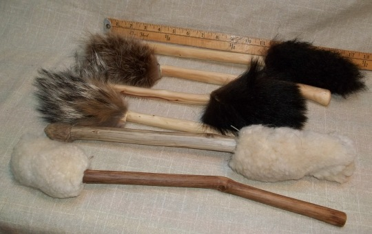 Latest Batch of Fuzzy Foot Drum Beaters